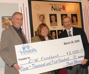 2009 Cheque presentation to Centre Wellington Food Bank